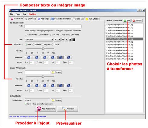 PhotoX Batch Watermark Creator