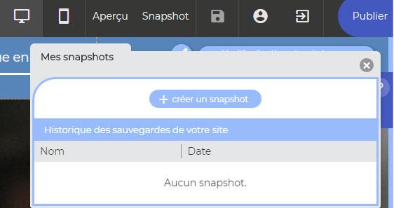 snapshot site web
