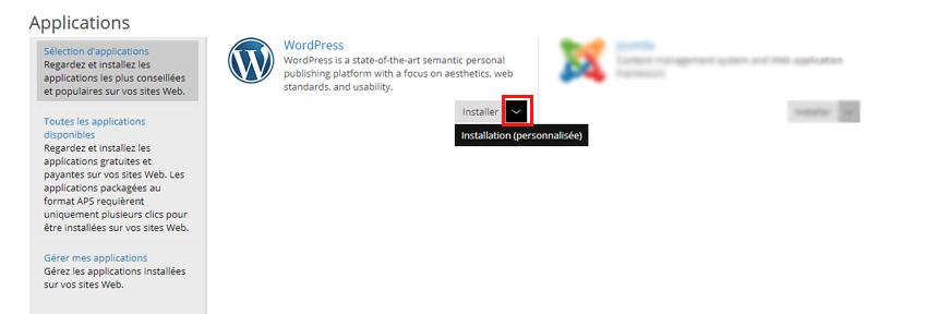 Installer Wordpress personnalisé