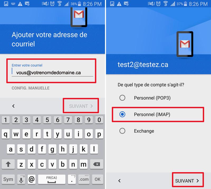 Gmail Ajour courriel