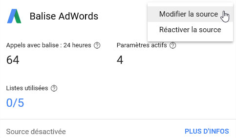 balise google adwords