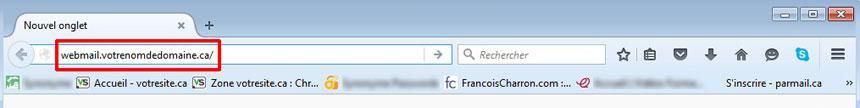 Accéder à Webmail Horde