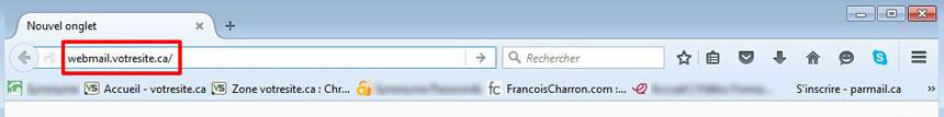 Accéder à Webmail RoundCube