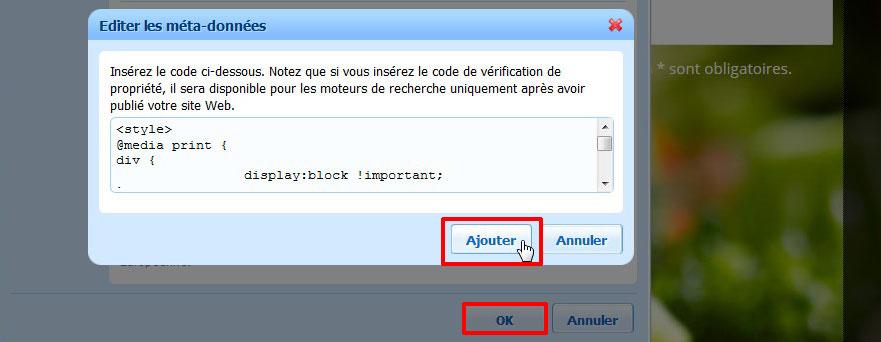 Publier correctif imprimer page Web