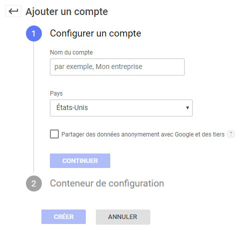 Compte Google Tag Manager