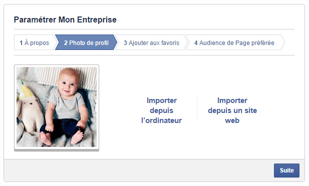 Page Facebook photo profil
