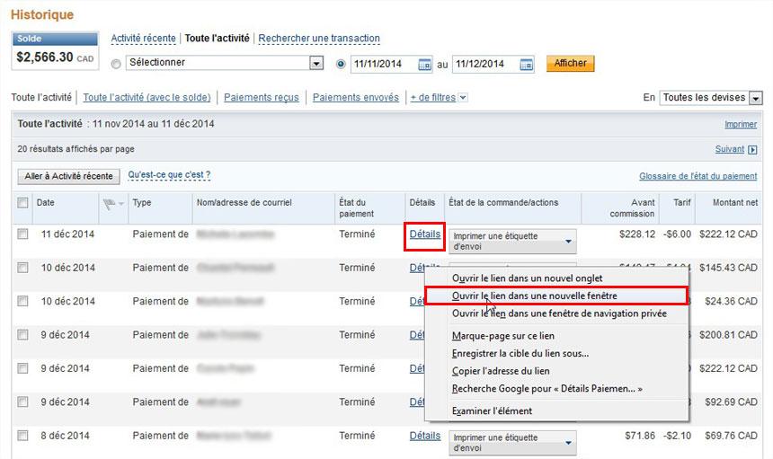 Effectuer un remboursement avec paypal zone for Ouvrir un lien dans une nouvelle fenetre