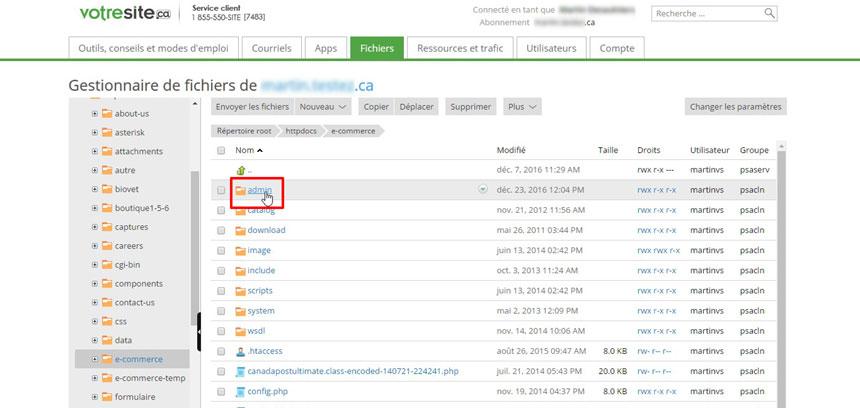 Dossier admin