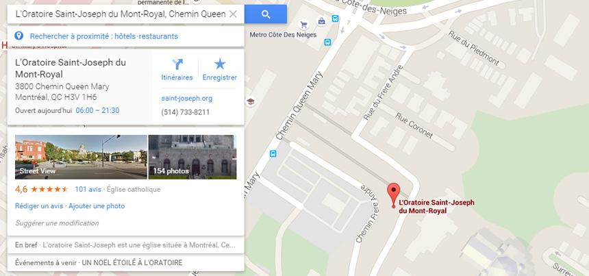 Fiche Google Maps
