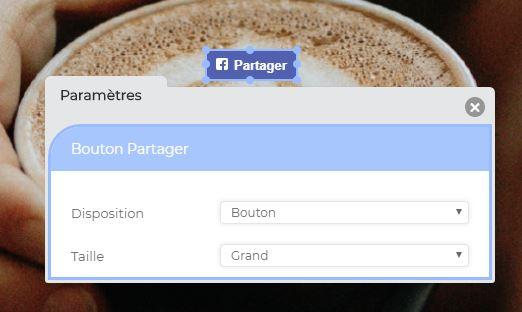 Format boutons partage Facebook site internet