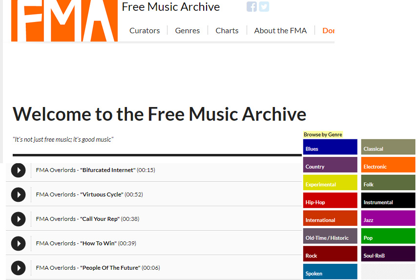 Site Free Music Archive