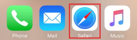 iPhone navigateur Safari
