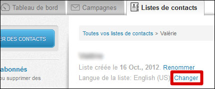 langue liste parmail