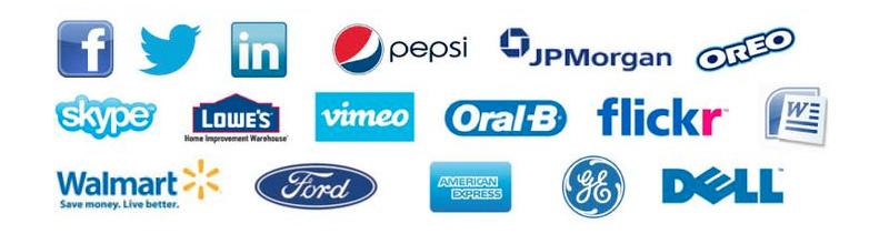 Exemples de logos bleus