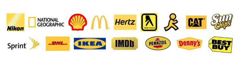 Exemples de logos jaunes