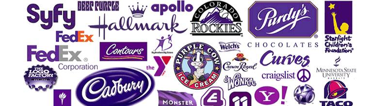 Exemples de logos mauves