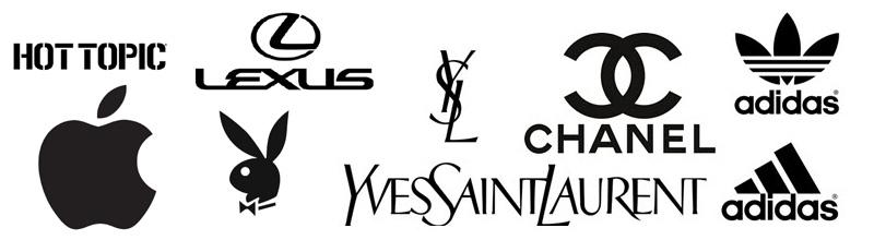 Exemple de logos noirs