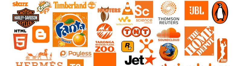 Exemples de logos oranges