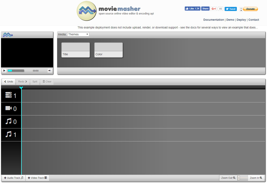 Site de montage Movie Masher