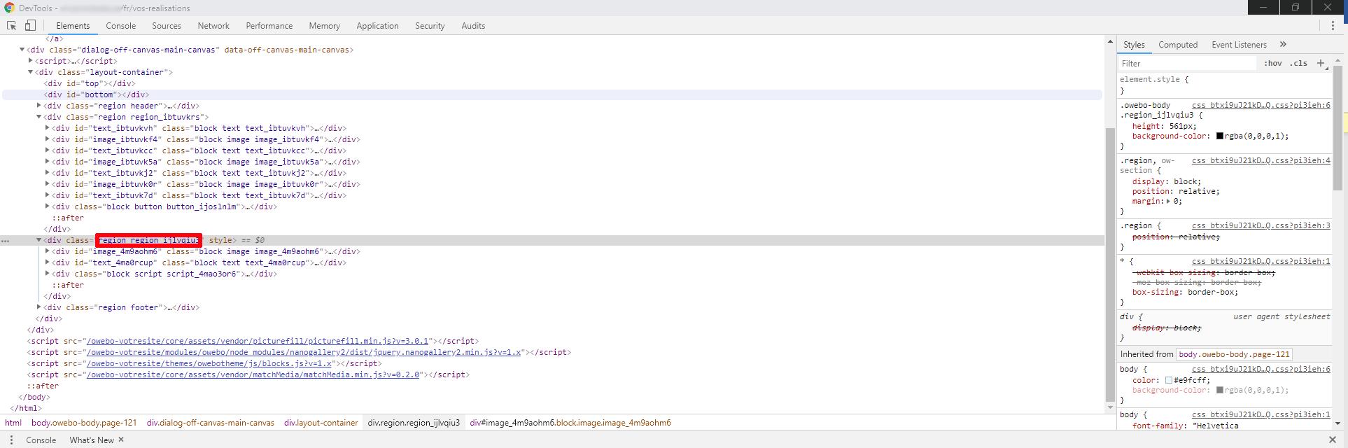 DevTools Chrome votresite