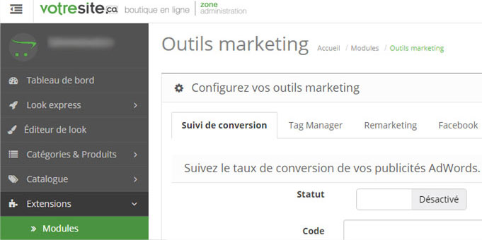 outils marketing boutique en ligne