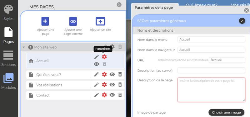 parametres seo pages