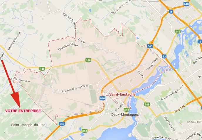 Google Maps limite ville