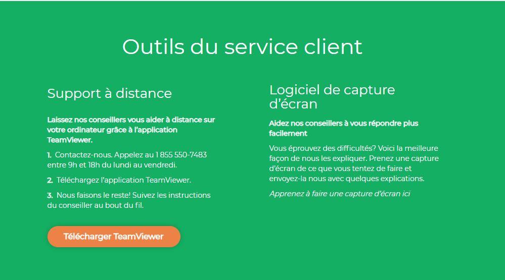 TeamViewer outil service client votresite