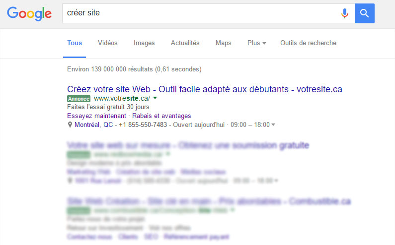 Votresite Google AdWords